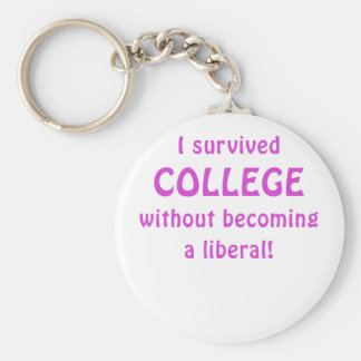 I Survived College Without Becoming a Liberal Key Chain