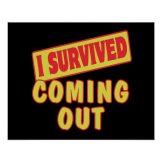 I SURVIVED COMING OUT POSTER