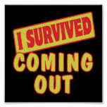 I SURVIVED COMING OUT PRINT