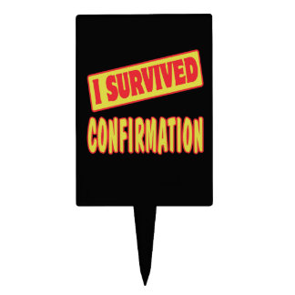 I SURVIVED CONFIRMATION CAKE TOPPER