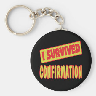 I SURVIVED CONFIRMATION KEYCHAIN