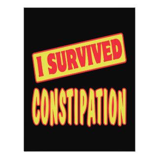 I SURVIVED CONSTIPATION FLYER