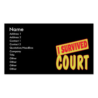 I SURVIVED COURT Double-Sided STANDARD BUSINESS CARDS (Pack OF 100)