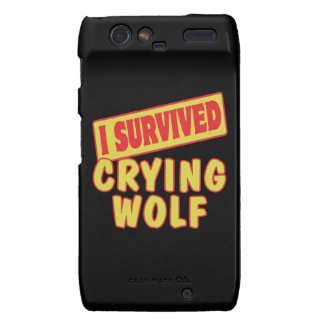 I SURVIVED CRYING WOLF MOTOROLA DROID RAZR COVER
