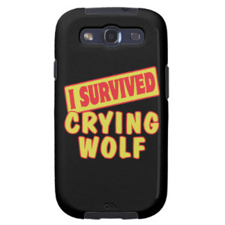 I SURVIVED CRYING WOLF SAMSUNG GALAXY SIII COVER