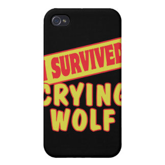 I SURVIVED CRYING WOLF COVERS FOR iPhone 4