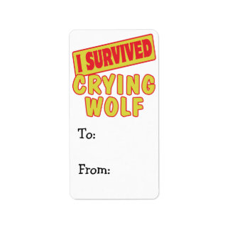 I SURVIVED CRYING WOLF LABEL