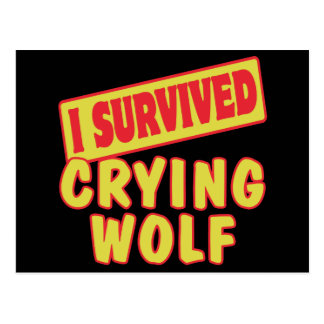 I SURVIVED CRYING WOLF POSTCARD