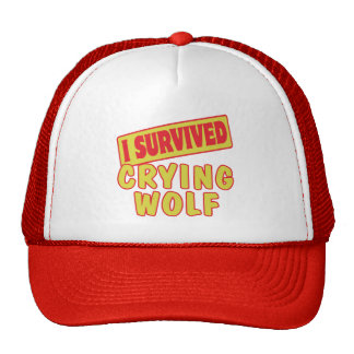 I SURVIVED CRYING WOLF TRUCKER HAT