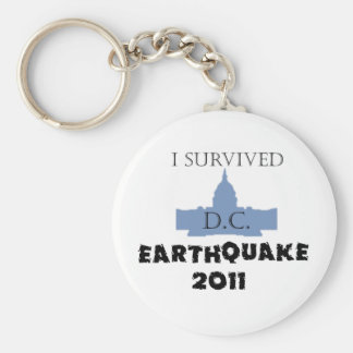 I survived D.C. Earthquake 2011 Keychain