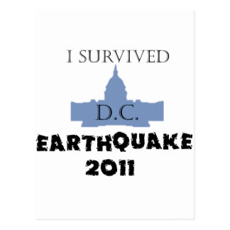 I survived D.C. Earthquake 2011 Postcard