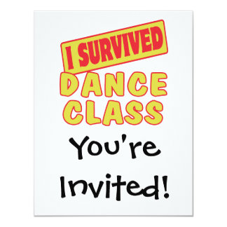 I SURVIVED DANCE CLASS CARD