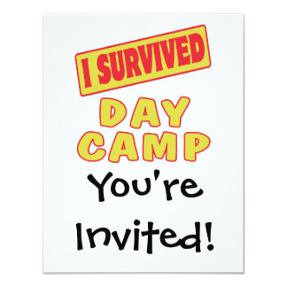 I SURVIVED DAY CAMP 4.25X5.5 PAPER INVITATION CARD