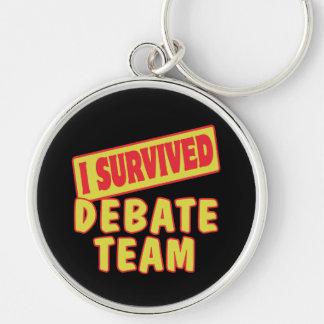 I SURVIVED DEBATE TEAM KEYCHAIN