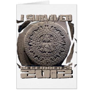 I SURVIVED December 21 2012 Card