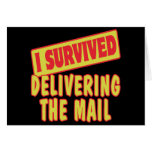 I SURVIVED DELIVERING THE MAIL GREETING CARD