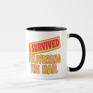 I SURVIVED DELIVERING THE MAIL MUG