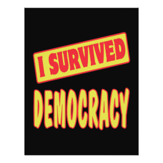 I SURVIVED DEMOCRACY PERSONALIZED FLYER