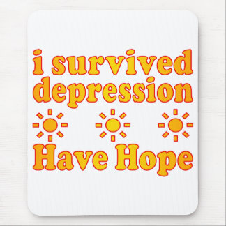 I Survived Depression - Have Hope - Inspire Faith Mouse Pad