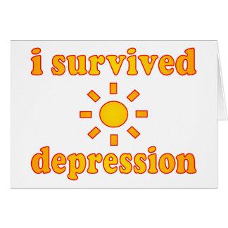 I Survived Depression Mental Health Happiness Card