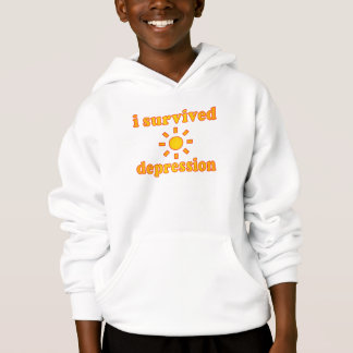 I Survived Depression Mental Health Happiness Hoodie