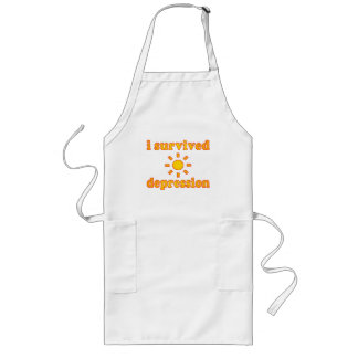 I Survived Depression Mental Health Happiness Long Apron