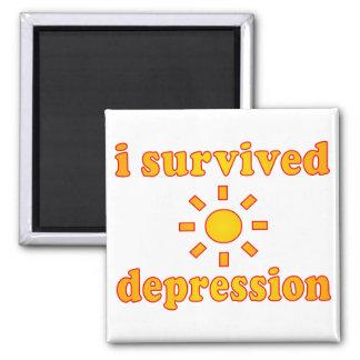 I Survived Depression Mental Health Happiness Fridge Magnets