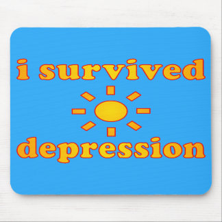 I Survived Depression Mental Health Happiness Mousepad