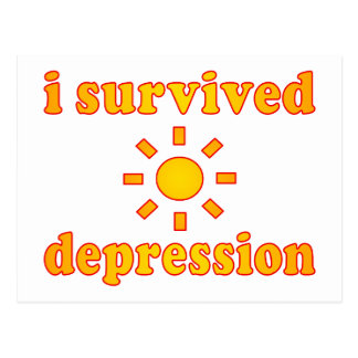 I Survived Depression Mental Health Happiness Postcard