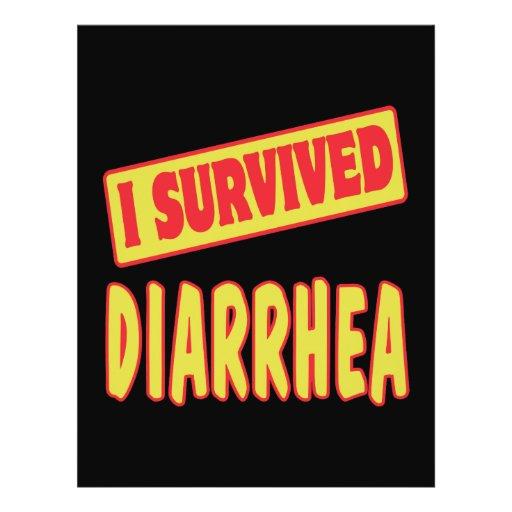 I SURVIVED DIARRHEA FLYER DESIGN