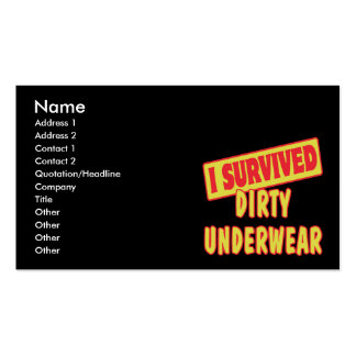 I SURVIVED DIRTY UNDERWEAR BUSINESS CARDS