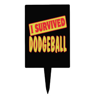 I SURVIVED DODGEBALL CAKE TOPPER