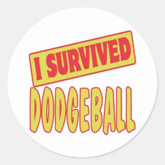 I SURVIVED DODGEBALL CLASSIC ROUND STICKER