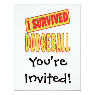 I SURVIVED DODGEBALL CUSTOM INVITATION