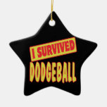 I SURVIVED DODGEBALL Double-Sided STAR CERAMIC CHRISTMAS ORNAMENT