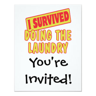 I SURVIVED DOING THE LAUNDRY CARD