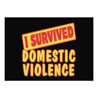 I SURVIVED DOMESTIC VIOLENCE CARDS
