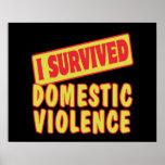 I SURVIVED DOMESTIC VIOLENCE POSTER