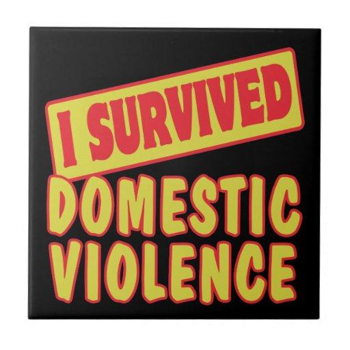 I SURVIVED DOMESTIC VIOLENCE TILE