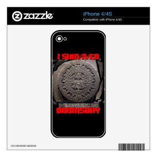 I SURVIVED DOOMSDAY 2012 cool iPhone 4S Decal