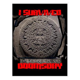 I SURVIVED DOOMSDAY 2012 cool Postcard