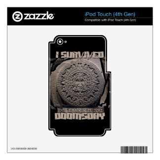 I SURVIVED DOOMSDAY 2012 SKIN FOR iPod TOUCH 4G