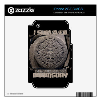 I SURVIVED DOOMSDAY 2012 SKIN FOR THE iPhone 3G