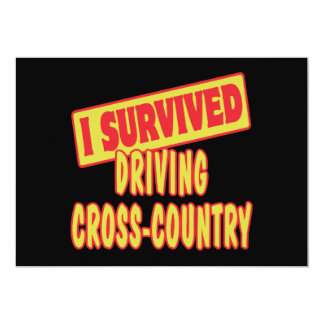 I SURVIVED DRIVING CROSS-COUNTRY CUSTOM INVITE