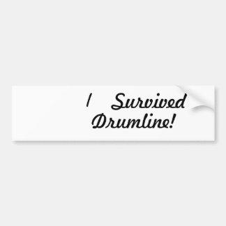 I survived drumline bumper sticker