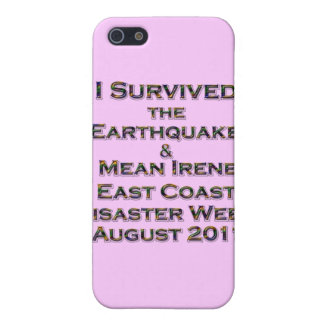 I Survived Earthquake & Hurricane Irene colorful Case For iPhone SE/5/5s