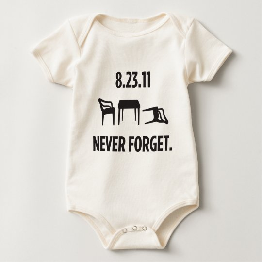 I Survived East Coast Earthquake Baby Bodysuit