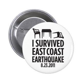 I Survived East Coast Earthquake Button