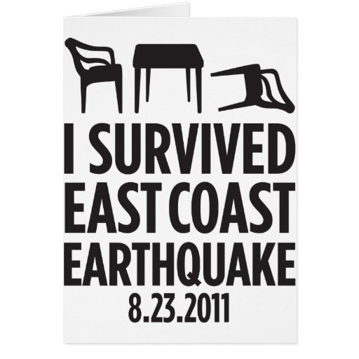I Survived East Coast Earthquake Cards