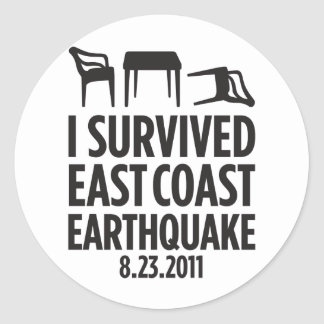 I Survived East Coast Earthquake Classic Round Sticker